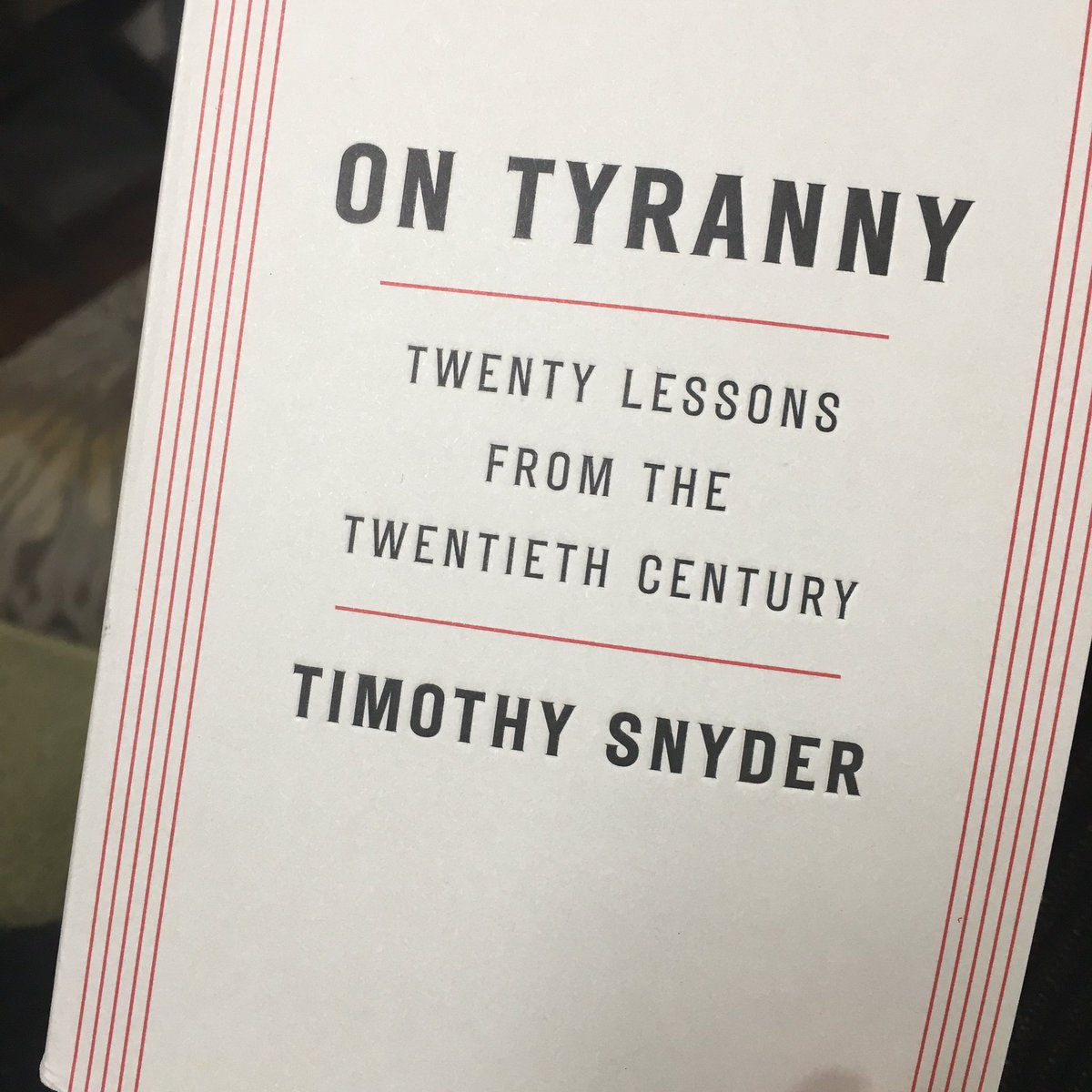 'History does not repeat, but it does instruct.' #timothysnyder