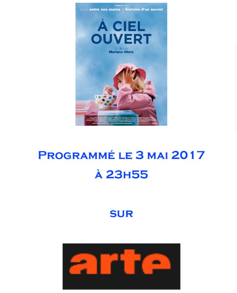 A CIEL OUVERT : LE 3 MAI SUR ARTE @ARTEfr  #ACielOuvert   #ArmeDuVote pic.twitter.com/ylQw6UPz4E