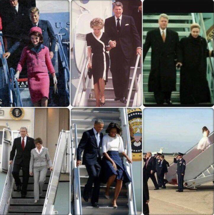This Picture is Worth 1000 Words. Historically, Presidents escort the First Lady. Not Trump. He escorts himself. #FlashbackFriday @Rosie<br>http://pic.twitter.com/0bn2mJIZ8v