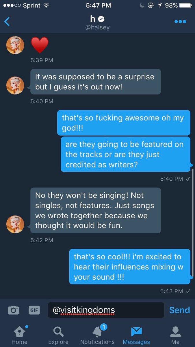 Halsey Updates on Twitter: