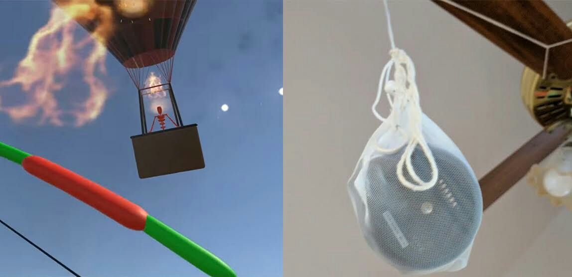 Developer Uses Vive Tracker To Battle Ceiling Fan