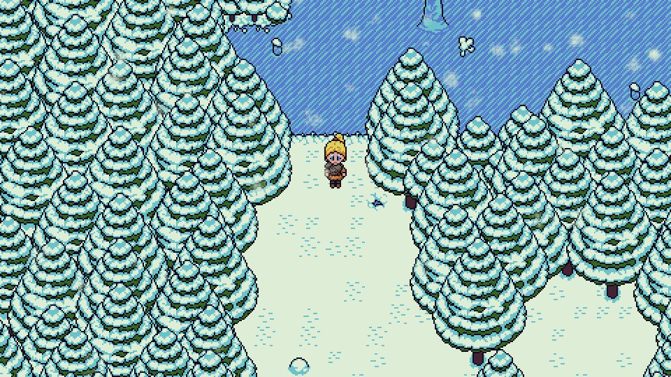 Freyja explores the snowy forest! #pixelart #forest #indiegame #gamedevelopment #rpg #roleplayinggame #2drpg #2dgame<br>http://pic.twitter.com/c3epv0FZGi