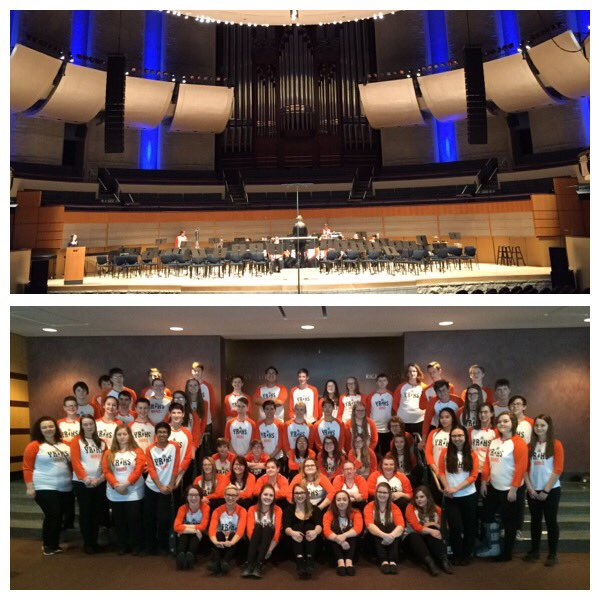 #YRHS Band at Festival in Edmonton, Director Kuz, phenomenal acoustics! https://t.co/SS6sQZyzVN