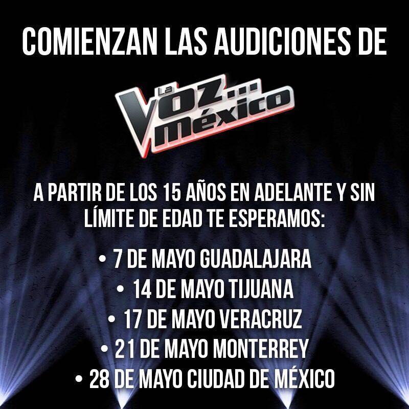 ¡Demuestra tu talento en #LaVozMéxico! ✌🎤 https://t.co/Y3jKOZXUYV https://t.co/QrAfyiu4S0