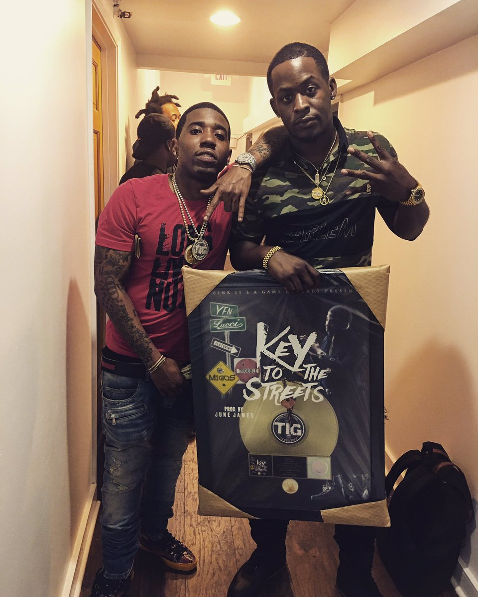 Got my first gold plaque @YFNLUCCI more to come