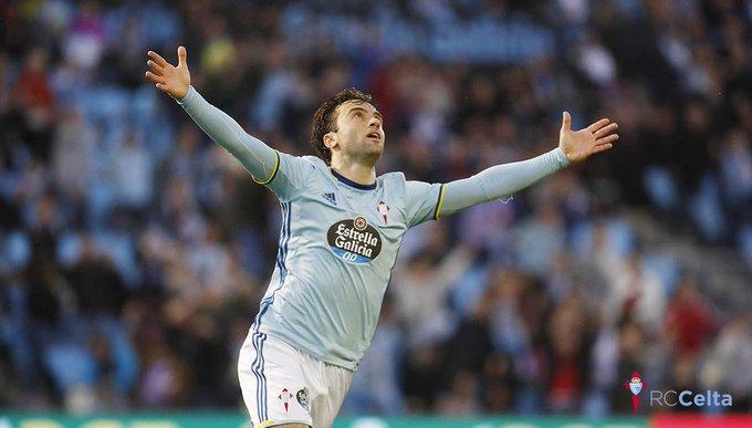 Rossi celebrando uno de sus goles ante el Éibar (Foto: RCCV).