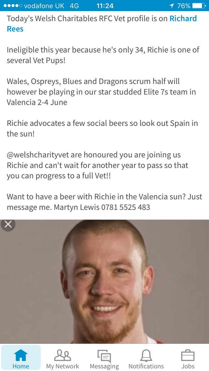 Today&#39;s profile ex #WRU @ospreys @dragonsrugby @cardiff_blues @DunvantRFC scrumhalf @RichieRees #vets10 #Rugby7s #rugby #charity #socksdown<br>http://pic.twitter.com/hyycPKtu6r