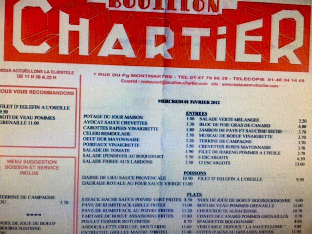 Ah to dine in Paris #Chartier <br>http://pic.twitter.com/Mnk4i5MGeJ
