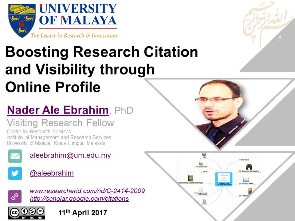 Improve #ResearchVisibility &amp; #Citation through creating online profile  https:// figshare.com/articles/Boost ing_Research_Citation_and_Visibility_through_Online_Profile/4833779 &nbsp; …  via @figshare @ORCID_Org @orcidtweets<br>http://pic.twitter.com/wgcS5LlH2k
