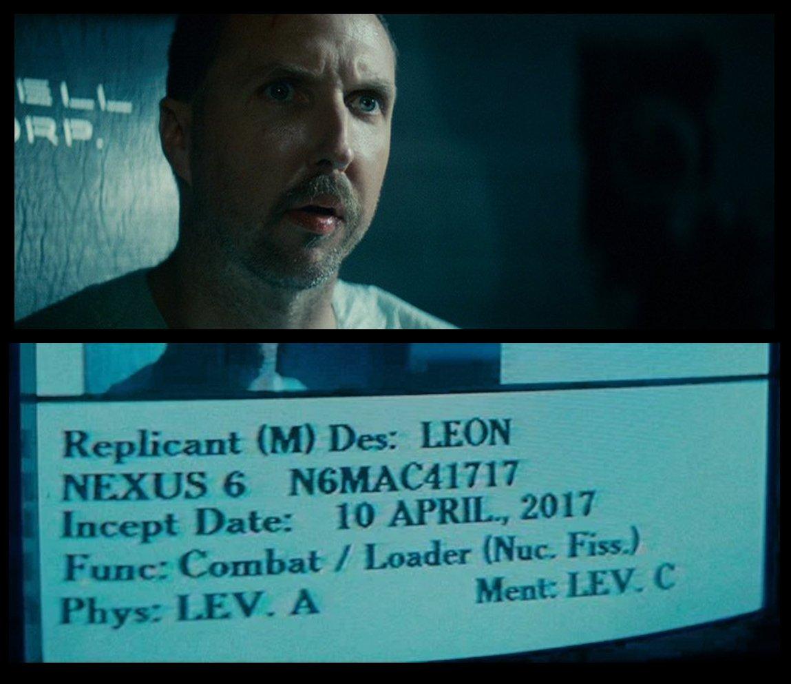 77f99f57b53 Happy creation day leon kowalski. 10th april 2017.  bladerunner  nexus6   replicant