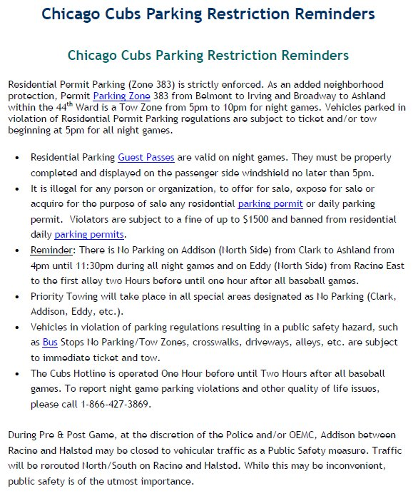 Chicago Police On Twitter The Cubs Home Opener Against La Dodgers At 7 05 P M Observe The Traffic Parking Restrictions Be Safe Use Public Transportation Https T Co Uafntcbhr7
