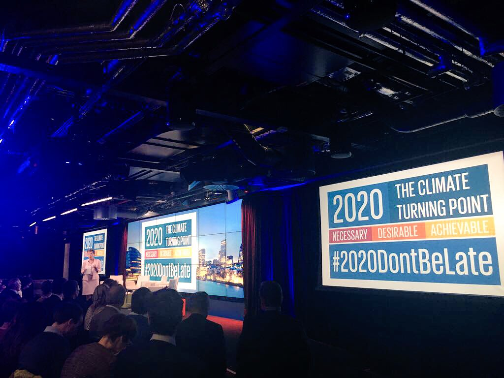 """Swallow the alarm clock""- @CFigueres on redefining our attitude towards climate change at the Mission 20:20 launch. #Goal13 #2020DontBeLate https://t.co/Is0ZU2selr"