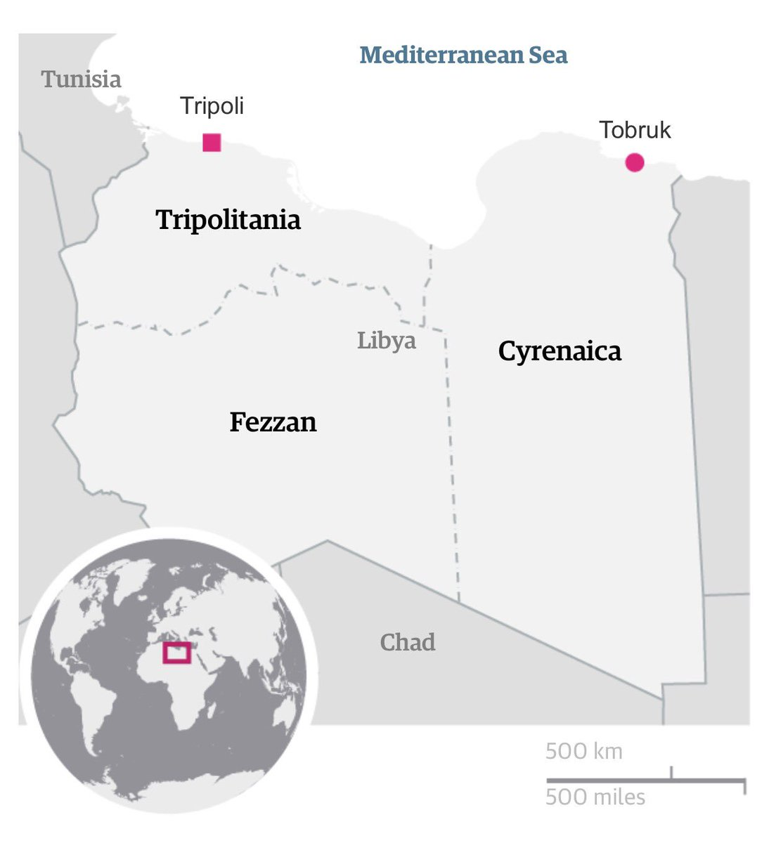 Media: Trump aide drew plan on napkin to partition Libya into three parts: Cyrenaica, Tripolitania  and  Fezzan
