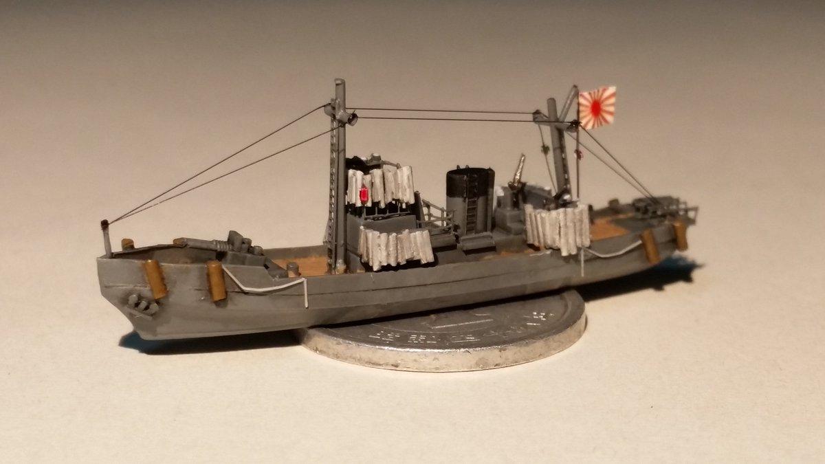 "kouya على تويتر: ""1/700第一号型哨戒特務艇 急に作り始めた哨戒特務艇 ..."