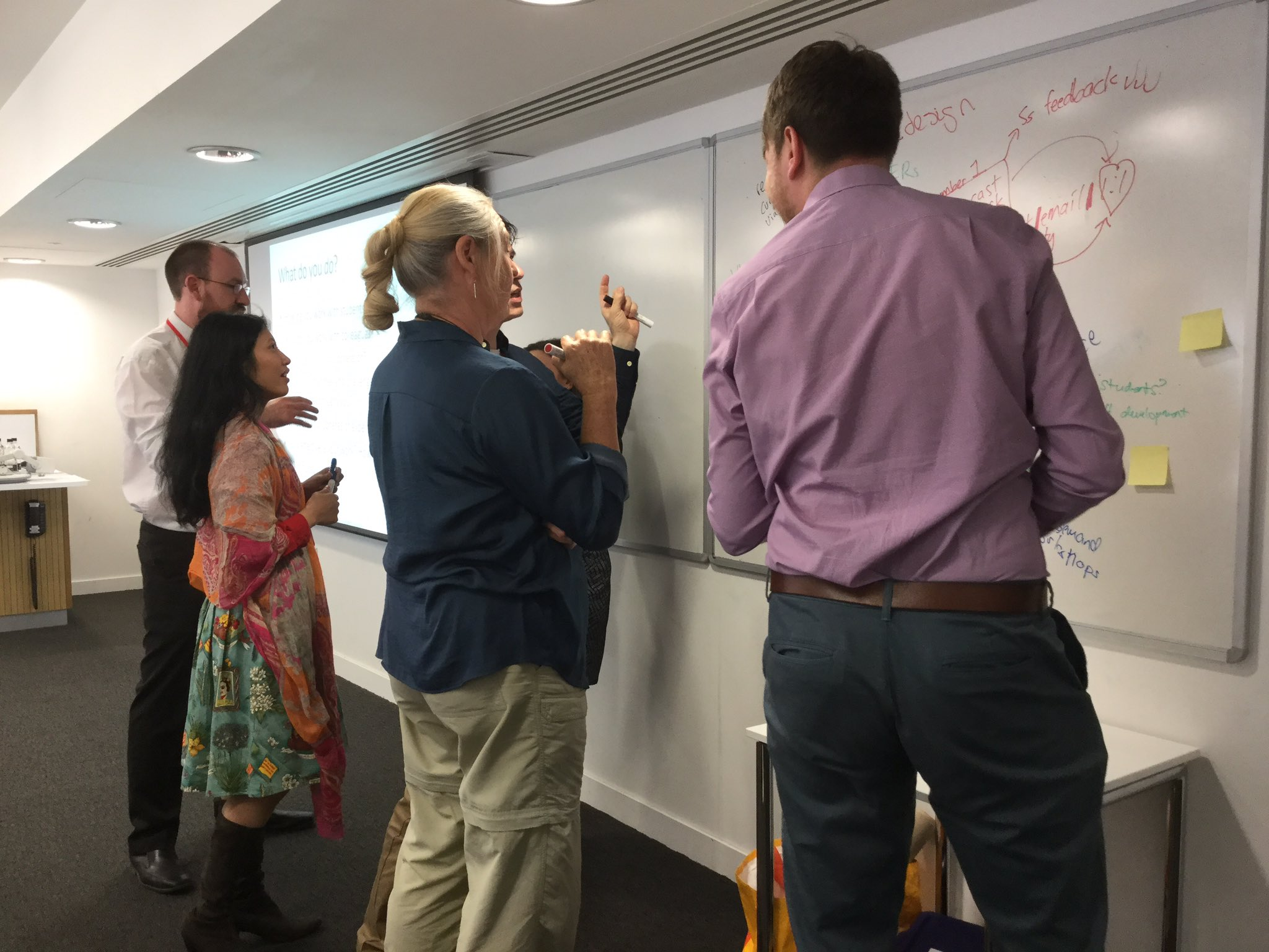 Professional collaborations underway at #aldcon or is it just that everyone really secretly wants to write on the whiteboard? #teachingperk https://t.co/7hjO9kwfi8