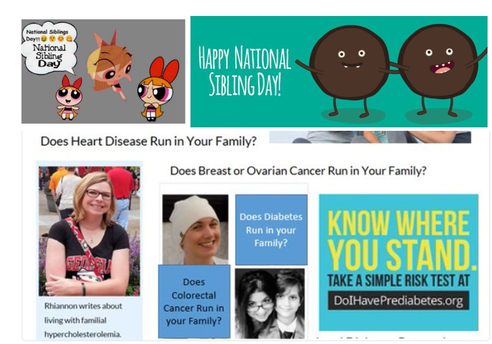 It's #nationalsiblingday: know your family health history, it can save your life. https://t.co/9nkuSEOP3N https://t.co/A0S2FPGb4o