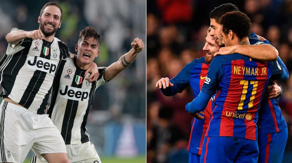 Partite Streaming: JUVENTUS-BARCELLONA Dortmund-Monaco, dove vederle con Diretta TV Video YouTube e Facebook