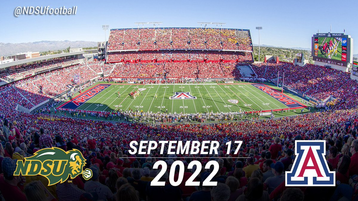 Ndsu Calendar 2022.Ndsu Football On Twitter Mark Your Calendars For Ndsu At Arizona In 2022 One Of Three Pac 12 Games For The Bison Oregon 2020 Colorado 2024 Fcs Ndsubison Https T Co Ji5mhywck4