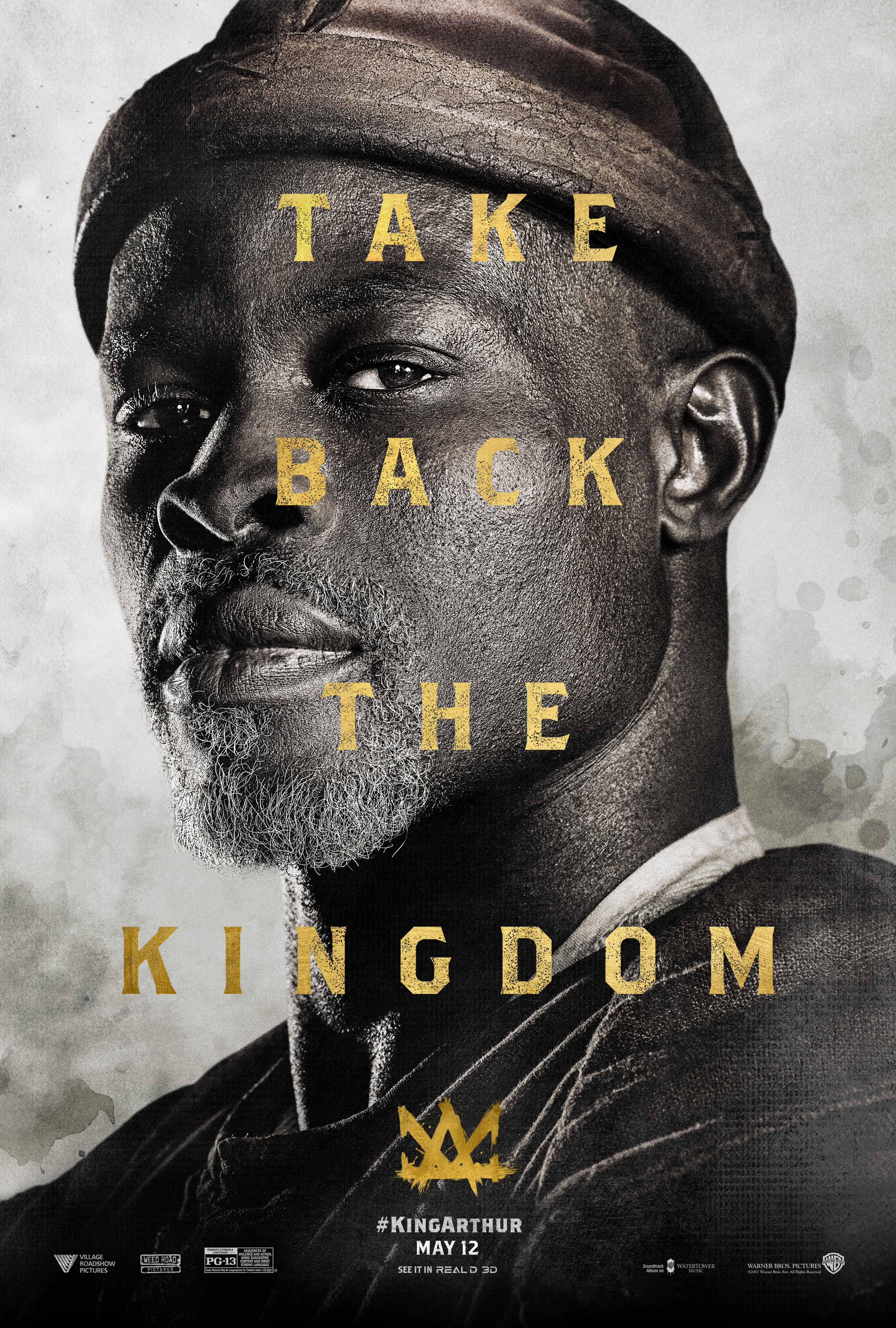 Djimon Hounsou in nieuwe karakterposter van King Arthur: Legend of the Sword