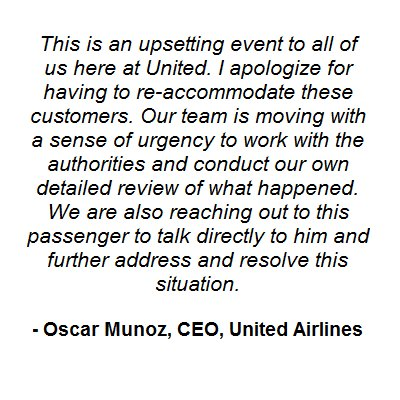United CEO response to United Express Flight 3411. https://t.co/rF5gNIvVd0