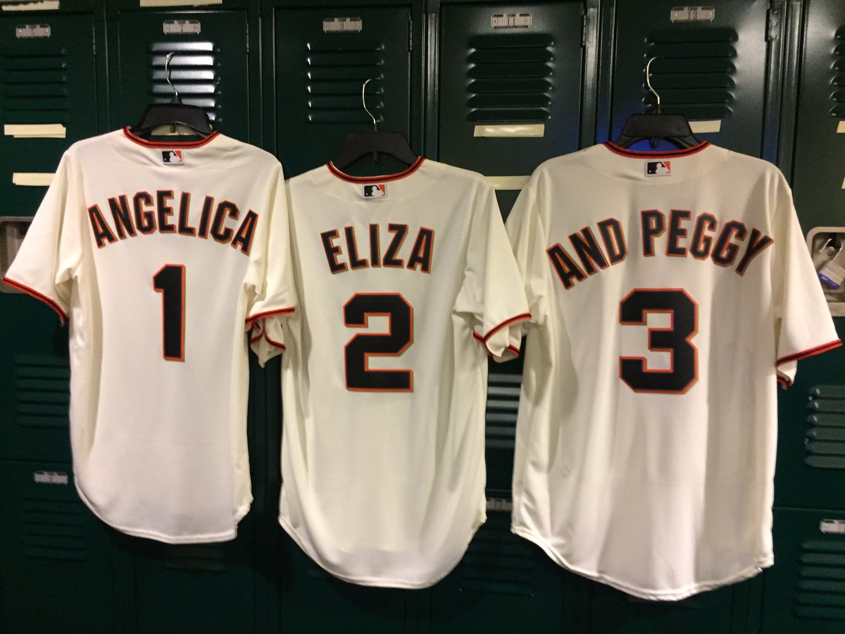 Angelica Eliza And Peggy We're ready for you ???????????? #SFGOpeningDay | #SFGiants
