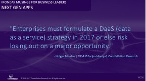 """""""Enterprises must formulate a DaaS strategy in 2017 or risk losing out on a major opportunity."""" @holgermu https://t.co/38ZcNc7wg3 https://t.co/g7kxGdfSmB"""