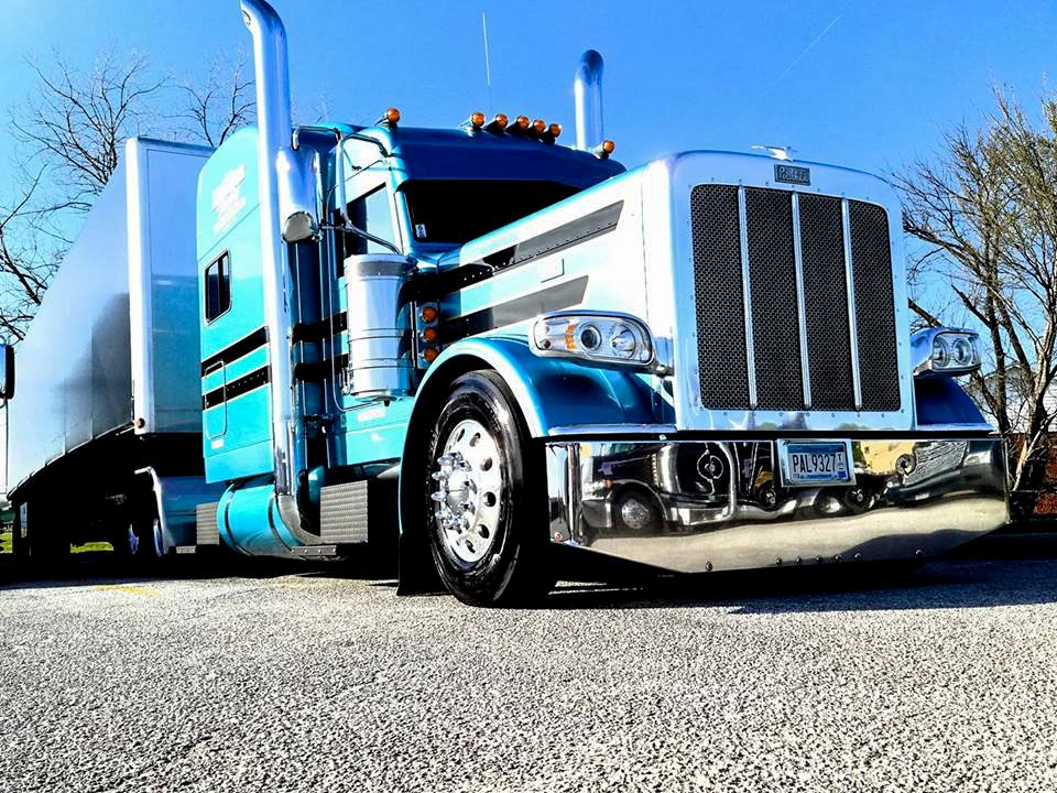 Owner Operator Brant Imhoff basking in the sun on a perfect spring day!! #workingtruck #pete