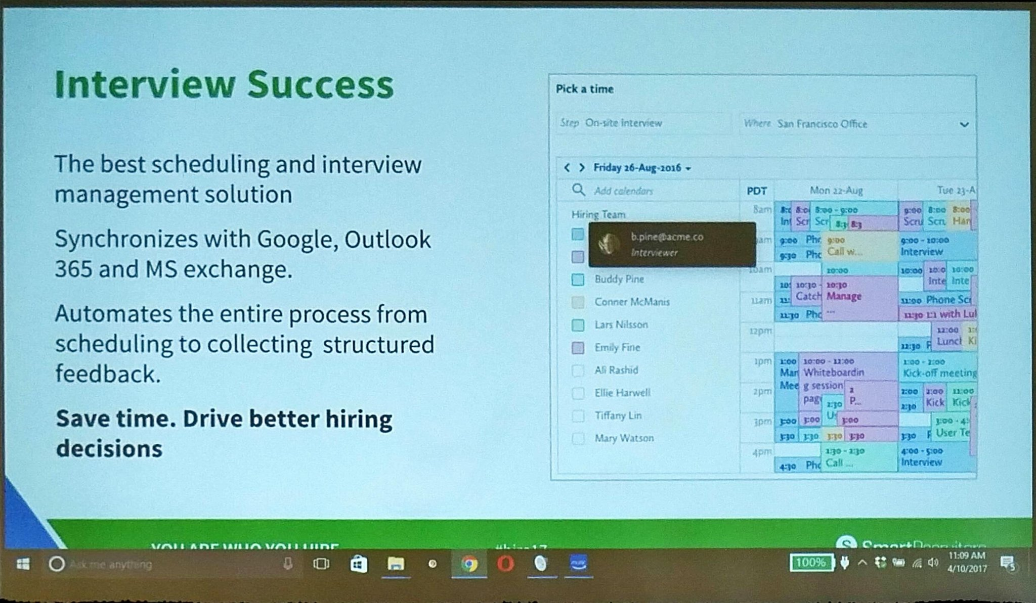 Key new @SmartRecruiters new capabilities -  Interview  Scheduling #hire17 https://t.co/DtUUVOIQF3