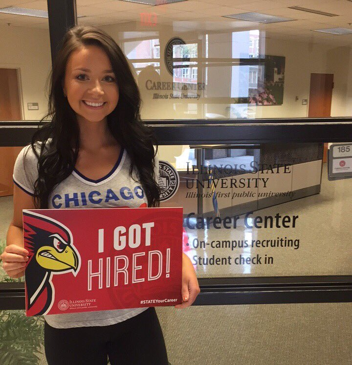 Congratulations to ISU senior, .@kirdricks for getting hired at Prudential Financial! #STATEYourCareer https://t.co/dD5AjE27Ad