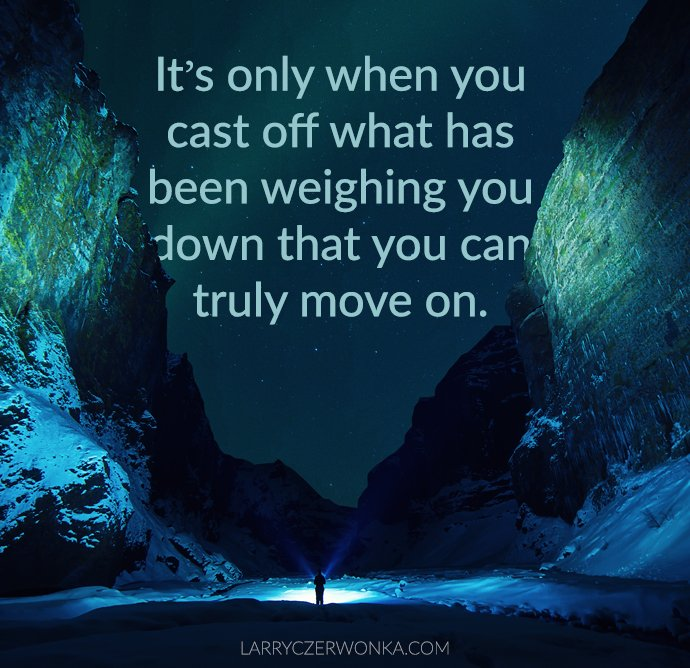 It's only when you cast off what has been weighing you down that you can truly move on. https://t.co/pO3ItfjESo