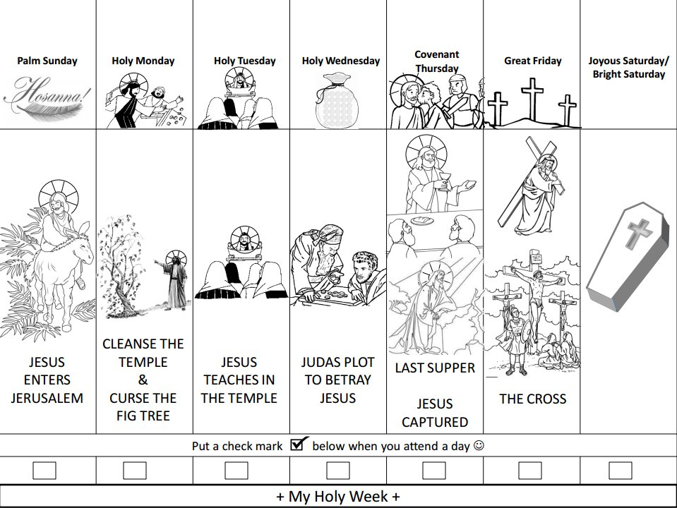 Easy Way To Walk Your Kids Through The Events Of HolyWeek Download Entire Children Coloringbook For FREE
