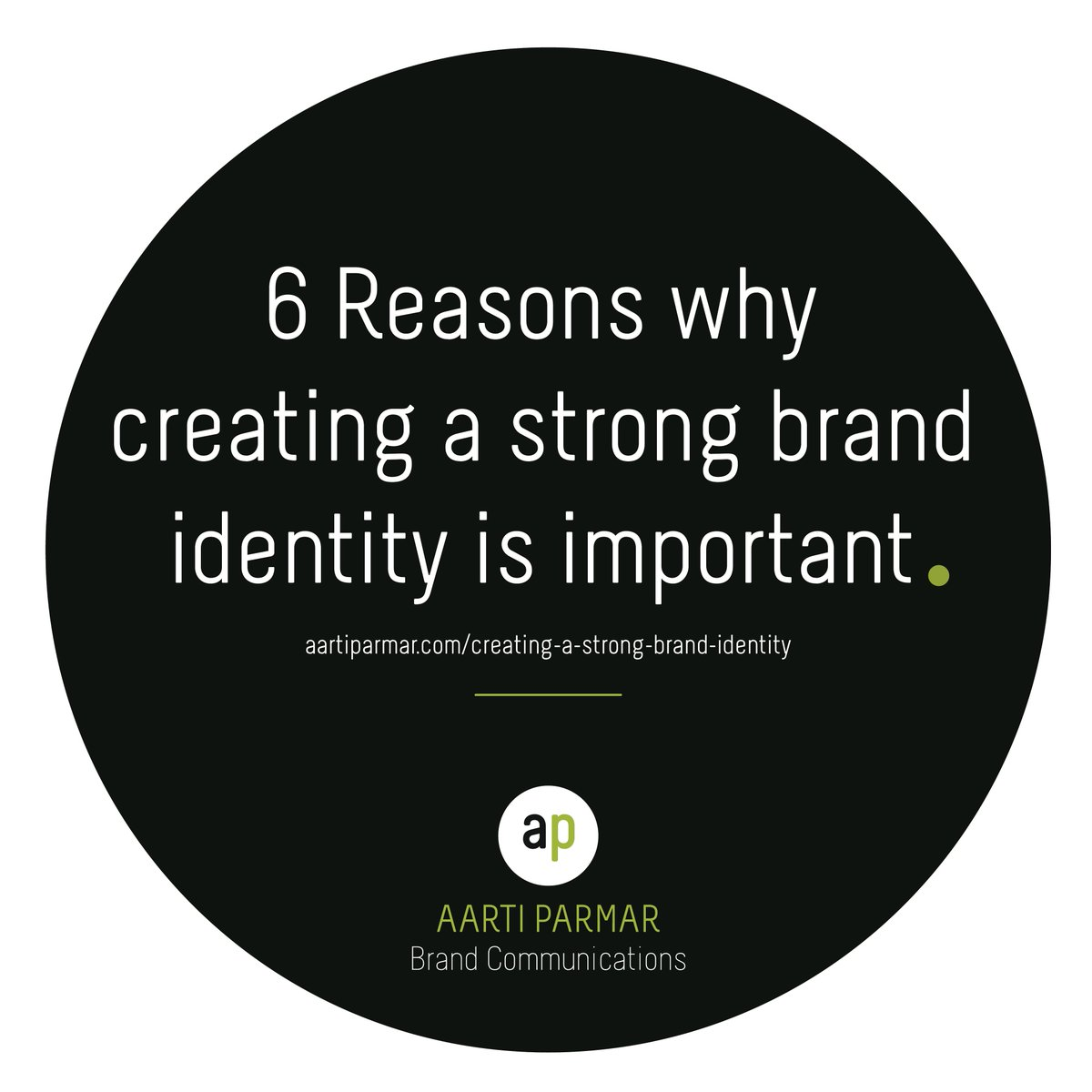 ap brand comms aartiparmar ap twitter hertshour here are 6 reasons why establishing your brand identity is essential aartiparmar com creating a strong brand identity