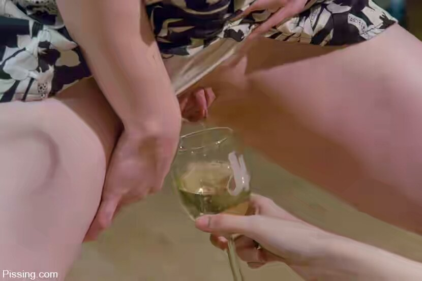 Girls drinking pee and hard sex soaked in urine