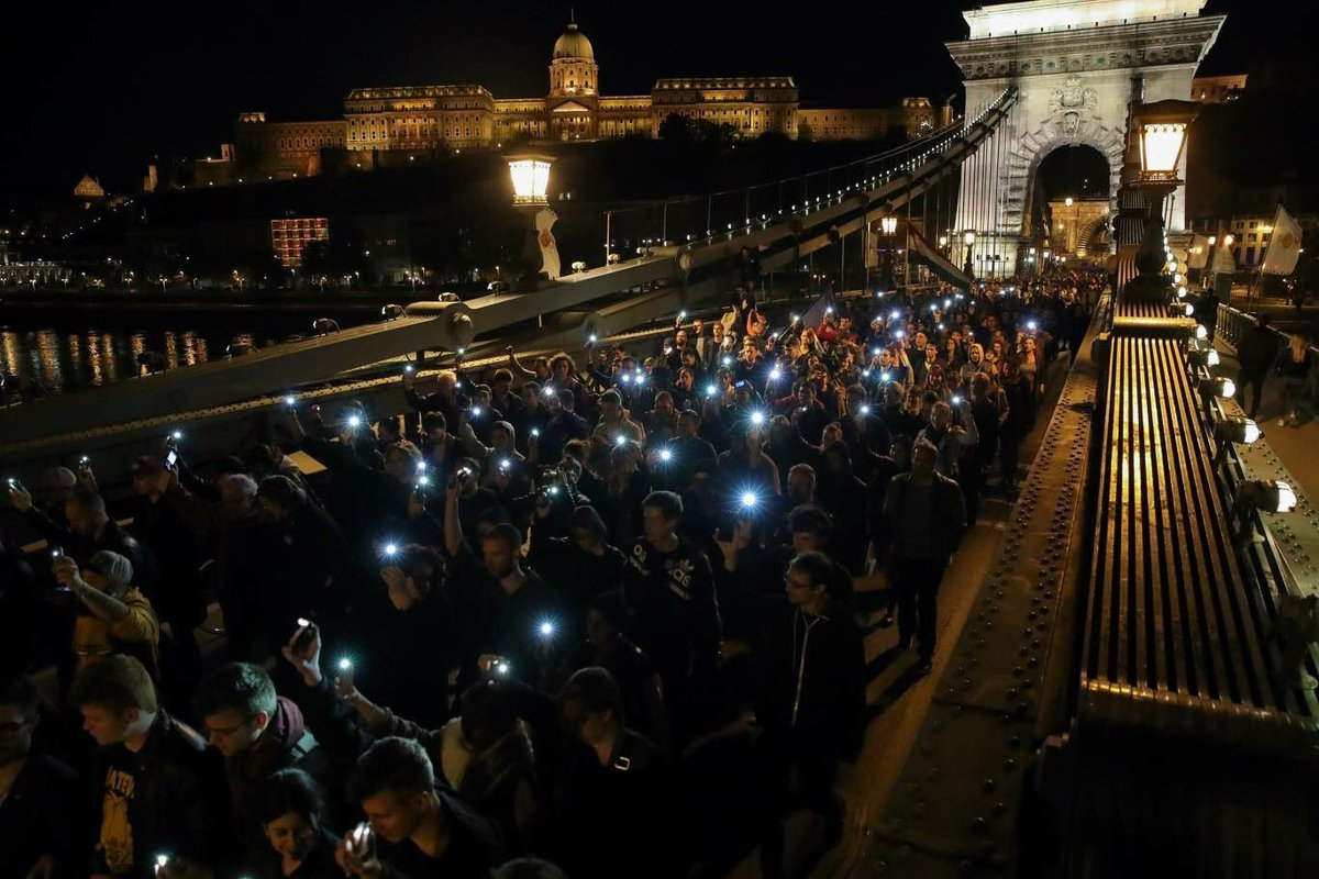 #istandwithCEU protest in Budapest tonight