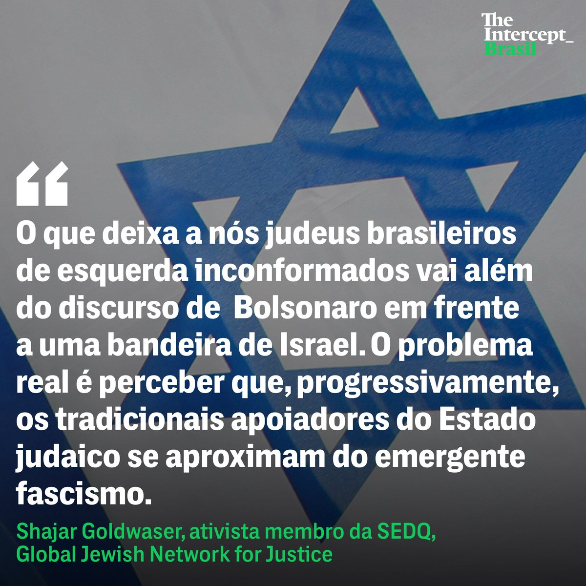 "The Intercept Brasil on Twitter: ""Jair Bolsonaro na Hebraica mostra o racha irreconciliável entre ser esquerda e sionista https://t.co/Y4eIAG7C9R… """