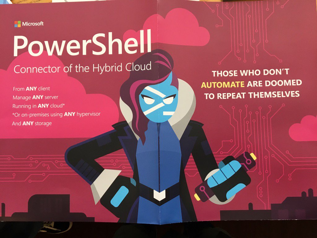 Microsofts new PowerShell Hero poster! https://t.co/Abqef0LHmX