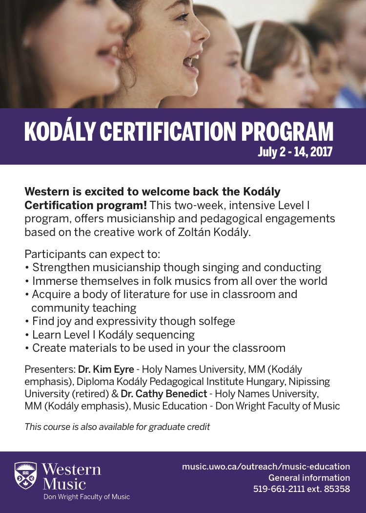 Kodaly Canada On Twitter Register Now For Kodaly Level I Only