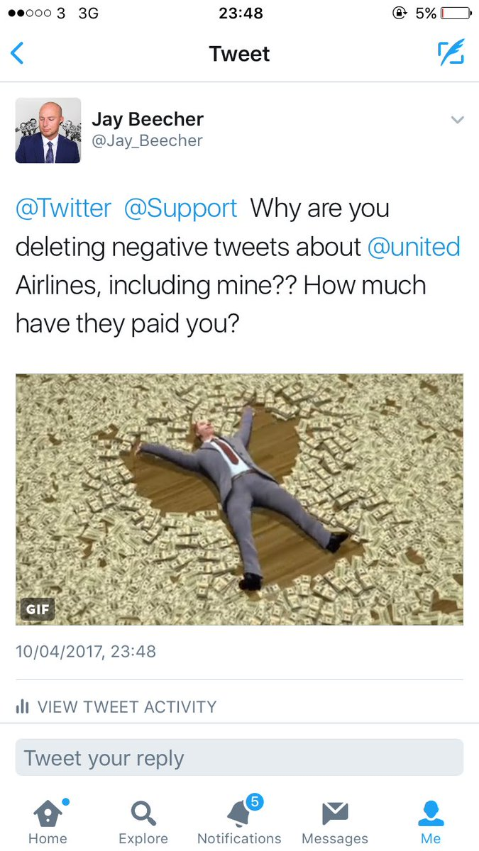 Twitter allegedly deleting negative tweets criticizing United Airlines