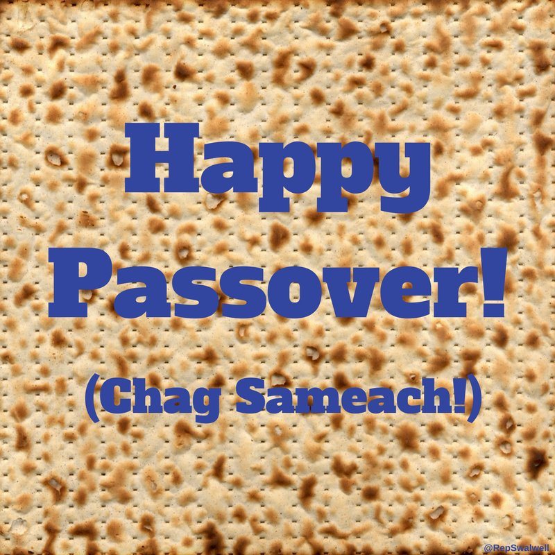 Wishing a happy and healthy Passover to all who celebrate! https://t.co/k1OzO4DR9b