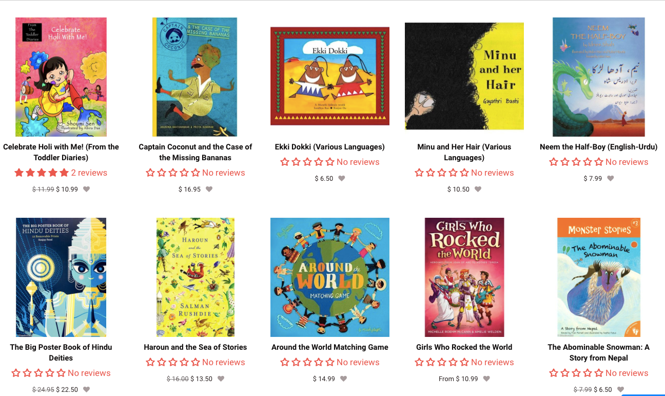 #diversekidlit #TwitterChat A1 As an online bookstore, we wanted to showcase the many wonderful #SouthAsian books #authors #languages https://t.co/wte8i3brym