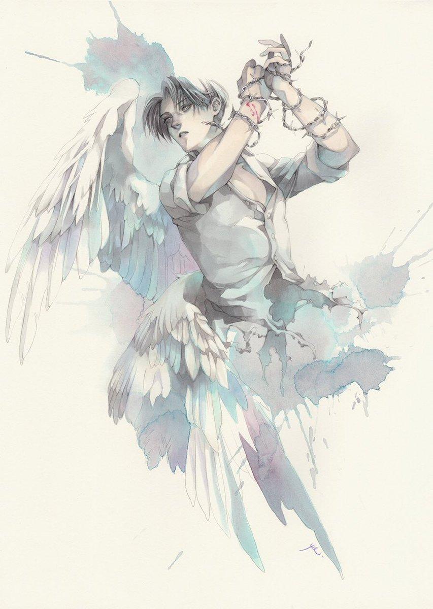 「あの時期」と言えば蒼夜さんの厨二病テーマの進撃画集に寄稿させていただいた片翼の天使兵長だよ
