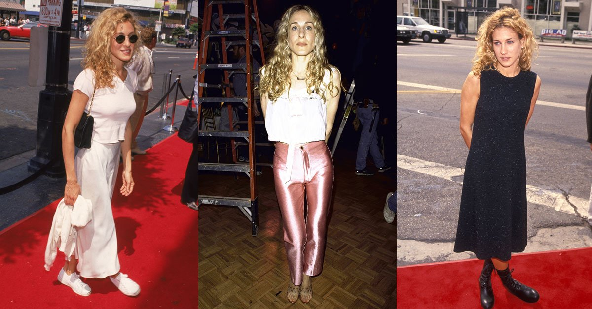 13 Sarah Jessica Parker '90s outfits we'd honestly wear today: https://t.co/JjuLETYXAY https://t.co/ATsLbOay1m