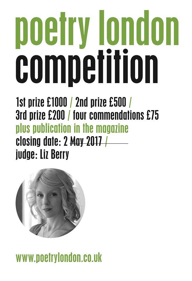 Poets!  Have you entered the Poetry London competition yet? Only 3 weeks to go! https://t.co/juXt3WRY8C https://t.co/E3XOHIdl4H