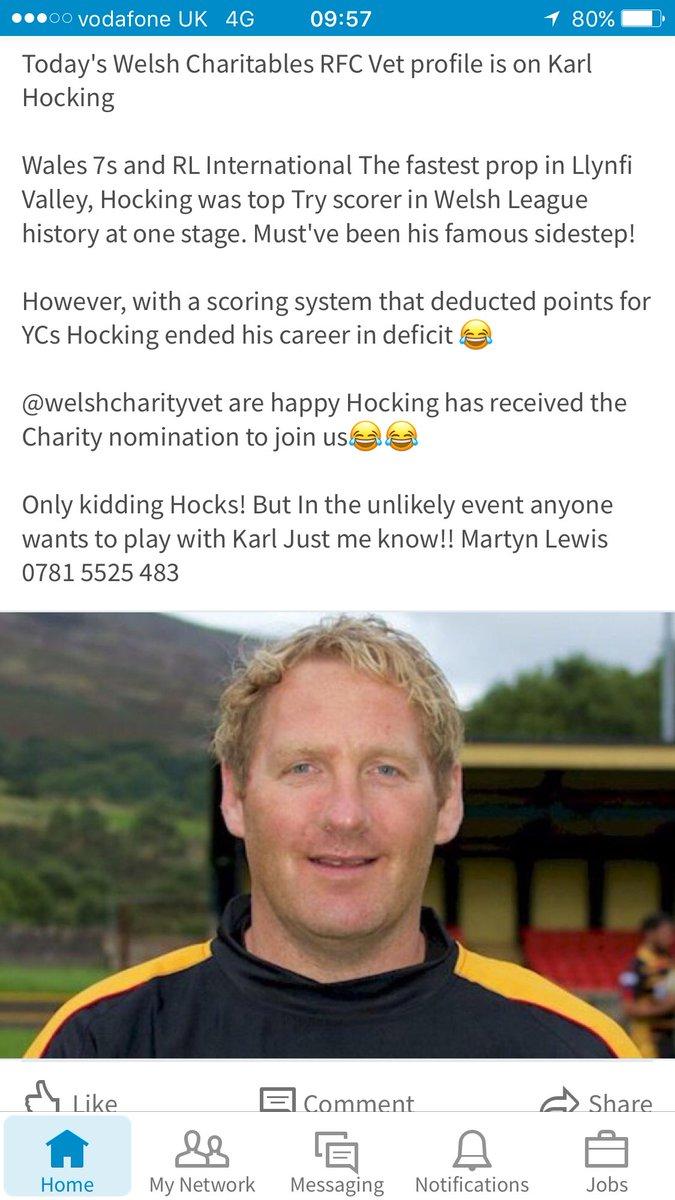 Welcome LegEnd @karlhocking  @bridgendravens @MaestegRFC want to join #joker @SevensAmsterdam ? #Rugby7s #charity #Vets10 #socksdown<br>http://pic.twitter.com/AeHssrVoXX