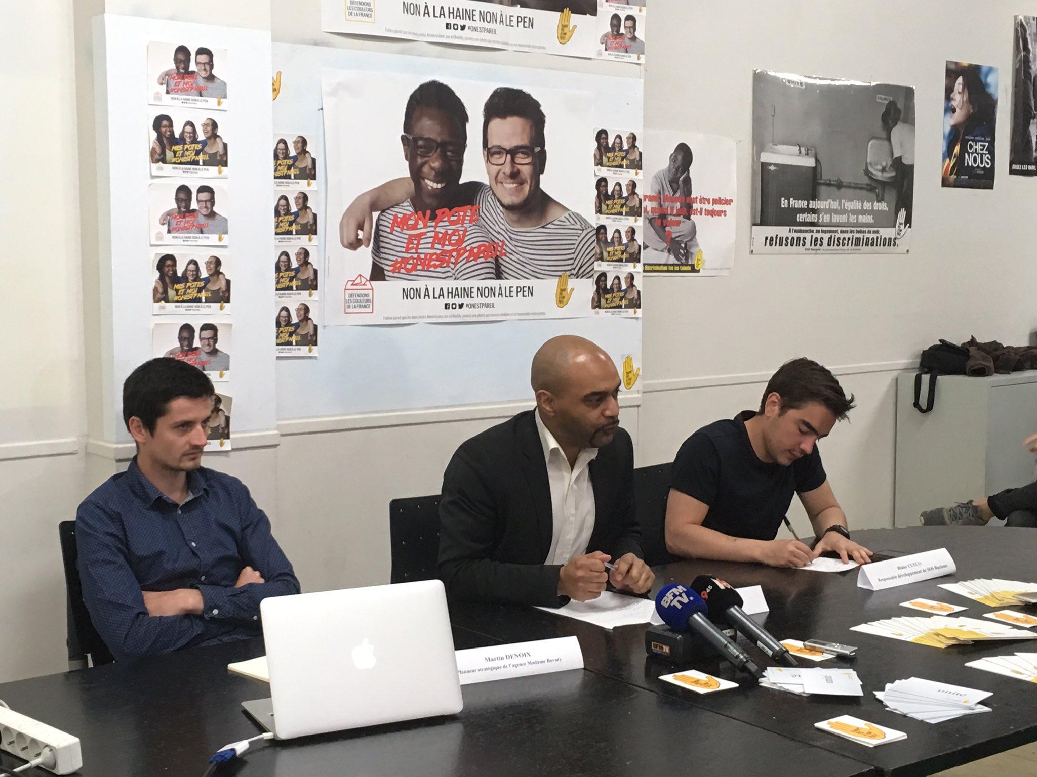 Début de la conférence de presse de SOS Racisme pour le lancement de la campagne #OnEstPareil https://t.co/OXYsanbuGP