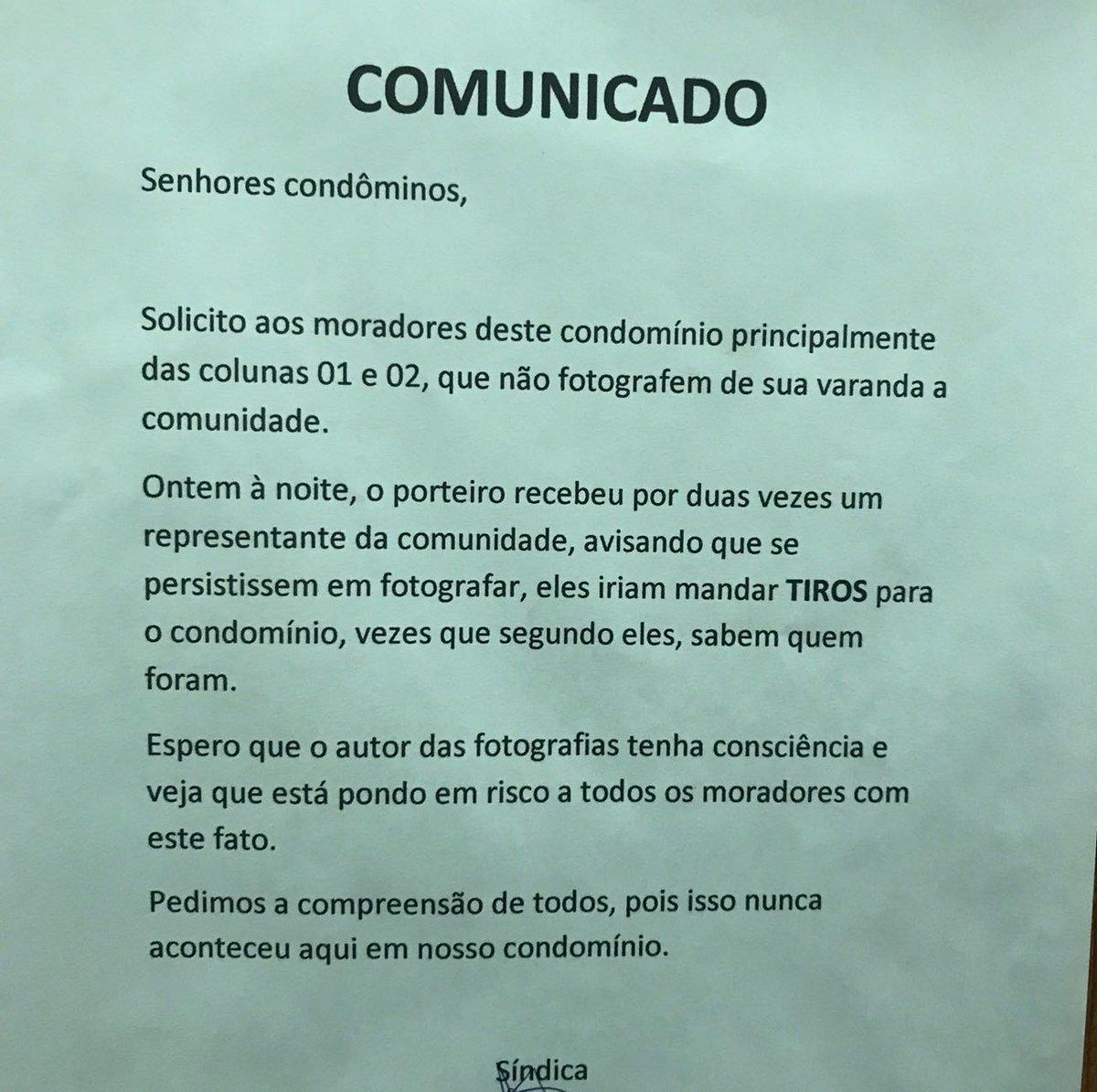 Morador do Complexo do Lins acordou com esse recado no elevador do seu prédio. #BandNewsFM #1ªEdição