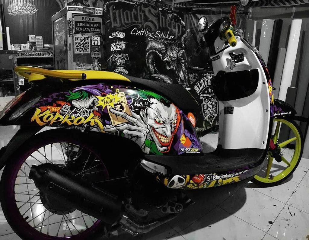 Cutting Sticker Scoopy New 2017 The Stickers Velg Merah K93 871x0k93a00red Tema Hello Kitty Zombie Source Blacksheep Stick Art On Twitter Joker