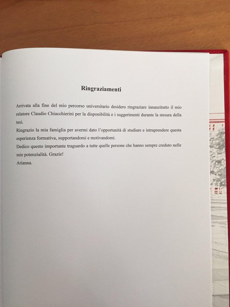 Lorenzo on twitter ringraziamenti sulla tesi di pagine e - Pagine di ringraziamento e divertimento ...