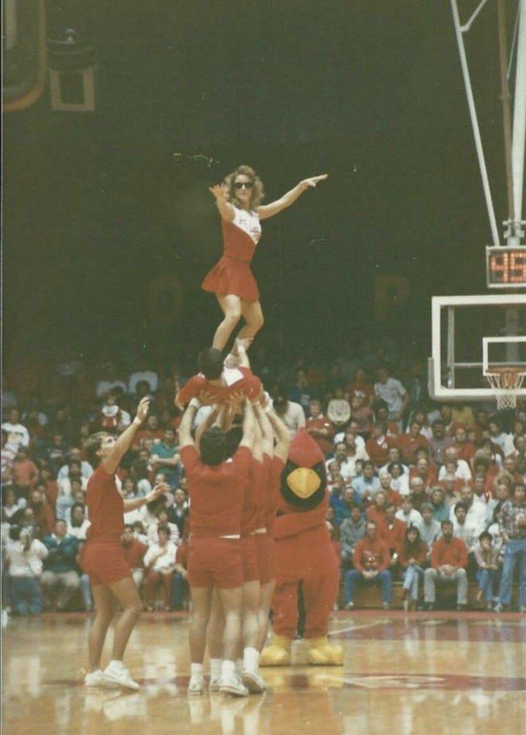 #RedbirdSetGo Some of my favorite Redbird memories happened as a ISU cheerleader. Surfs up Horton Fieldhouse! https://t.co/oTnjuoT4EY