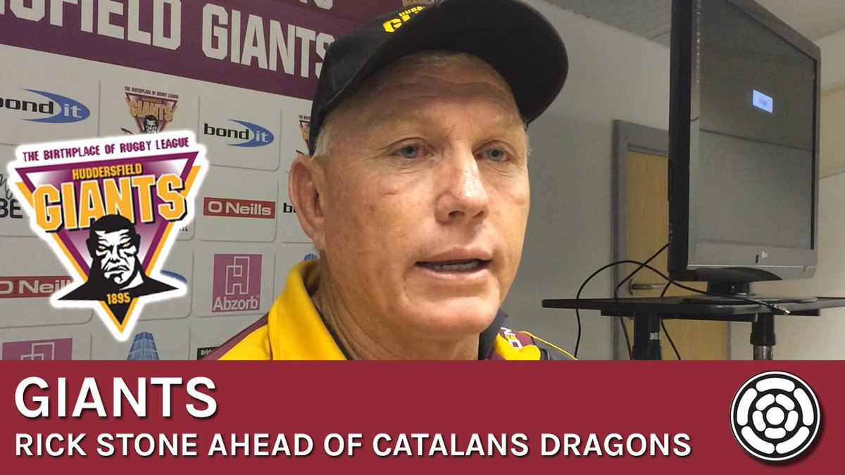 Stone &quot;We can be more aggressive&quot;  @Giantsrl @DragonsOfficiel #huddersfieldgiants #giantsrl  http://www. radioyorkshire.co.uk/giants/stone-p re-catalans/ &nbsp; … <br>http://pic.twitter.com/Kf7ze0Pbgy